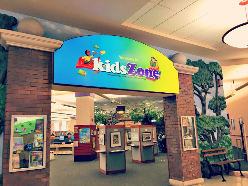 Schaumburg Library KidsZone Entrance