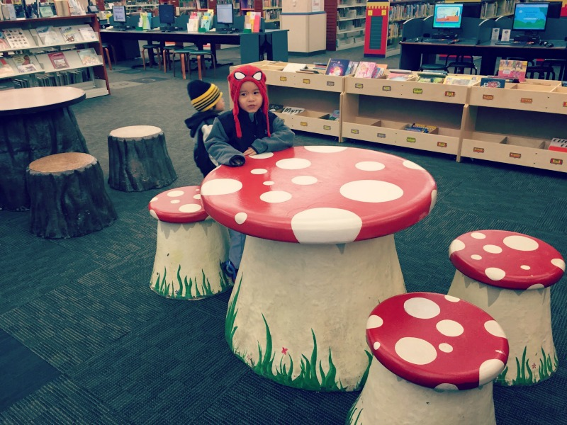Schaumburg Library Mushroom Table