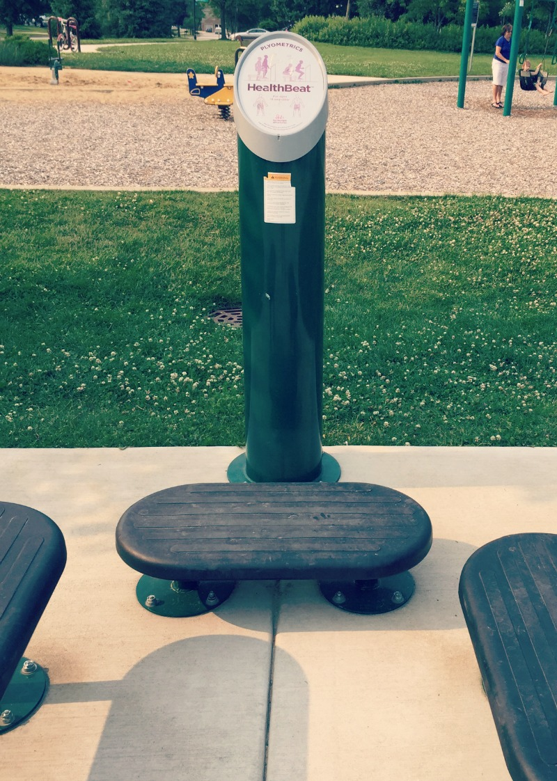 Fountain Square Park Elk Grove Village Playground Workout Stations